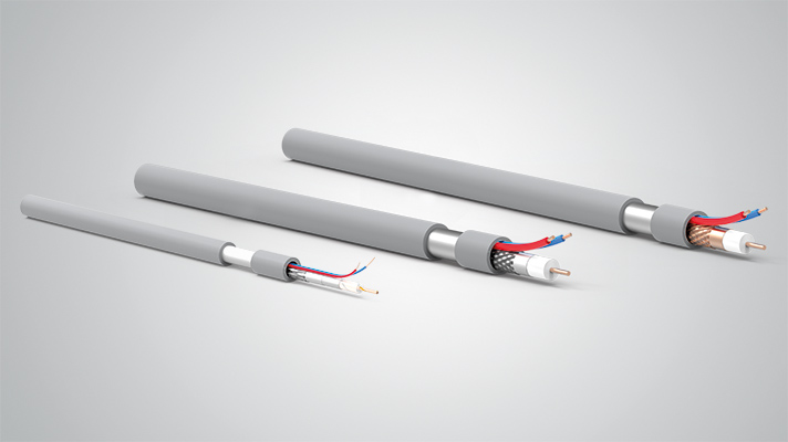 Composit Cables RG59+2C Coaxial Cable For Closed Circuit Camera Systems