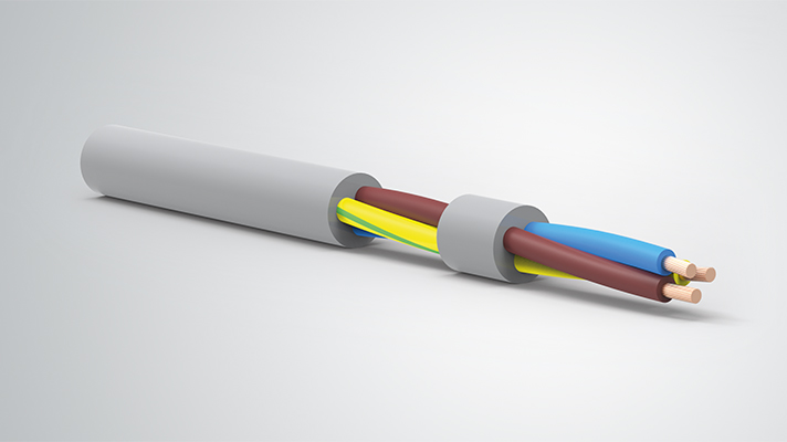 3 Core 2.5mm Round Electrical Cable Flex Wire